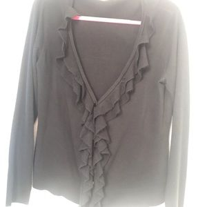 New York & Company Ruffled Cardigan sweater
